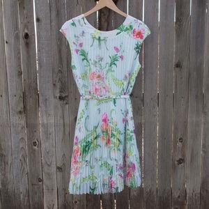 Ted Baker Floral Dress Mint Green 4 (10 US) L EUC